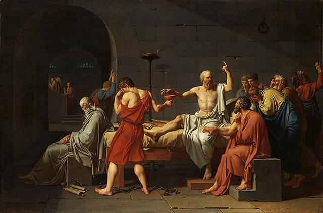 ジャック=ルイ・ダヴィッド「ソクラテスの死」